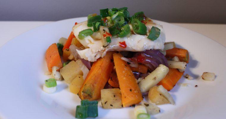 Torsk med rotgrønnsaker