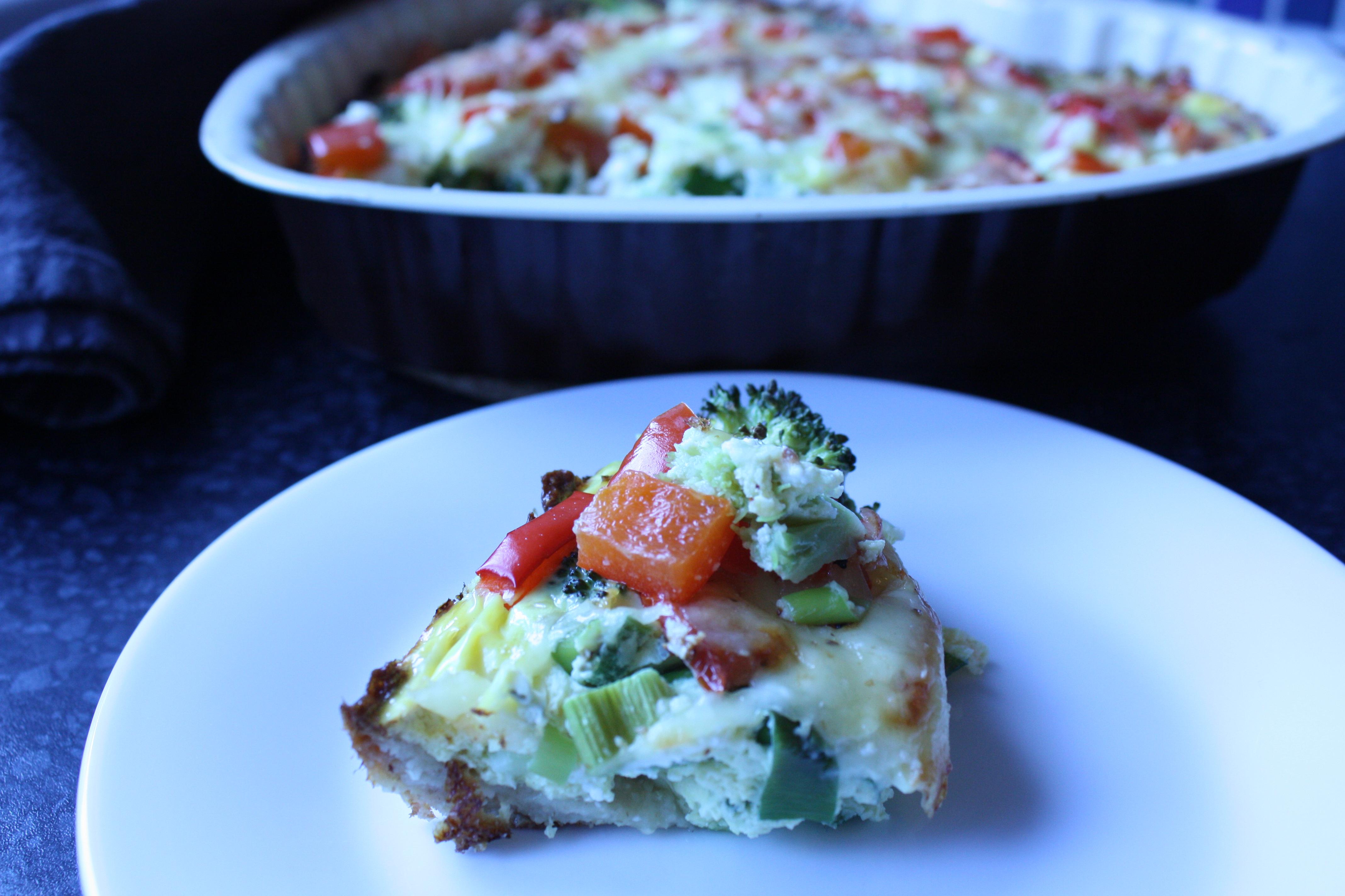 Vegetarpai med brokkoli og fetaost