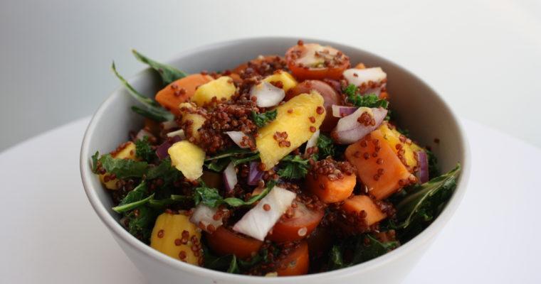 Quinoasalat med søtpotet og mango